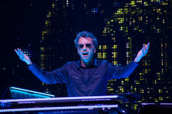 JEAN MICHEL JARRE - ELECTRONICA TOUR - LOS ANGELES - MAY 27 2017. Grammy-nominated artist and French electronic music composer and producer Jean-Michel Jarre's royalty free stock photography