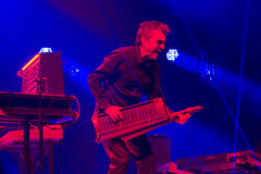 JEAN MICHEL JARRE - ELECTRONICA TOUR - LOS ANGELES - MAY 27 2017. Grammy-nominated artist and French electronic music composer and producer Jean-Michel Jarre's royalty free stock photo