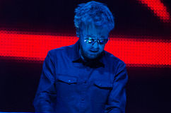 JEAN MICHEL JARRE - ELECTRONICA TOUR - LOS ANGELES - MAY 27 2017. Grammy-nominated artist and French electronic music composer and producer Jean-Michel Jarre's royalty free stock images