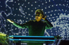 JEAN MICHEL JARRE - ELECTRONICA TOUR - LOS ANGELES - MAY 27 2017. Grammy-nominated artist and French electronic music composer and producer Jean-Michel Jarre's stock photo