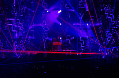 JEAN MICHEL JARRE LOS ANGELES, MAJ - 27 2017 - ELECTRONICA wycieczka turysyczna - Fotografia Stock