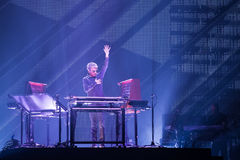 Jean-Michel Jarre in Prague, 2016 Royalty Free Stock Photography