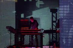 JEAN MICHEL JARRE - VISITE D'ELECTRONICA - LOS ANGELES - 27 MAI 2017 Photographie stock