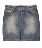 Jean mini skirt Stock Photo