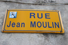 Jean Moulin Street Royalty Free Stock Photography