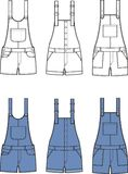 Jean overalls set Stock Photography