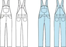 Jean overalls Stock Photography