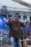 Jean-Paul 'Bluey' Maunick, brittisk musikband inkognito, på sommartidfestivalen Royaltyfri Foto