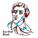 Jean-Paul Marat Portrait illustration stock