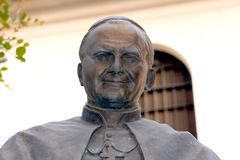 Jean Paul 2 Pope Statue Italy Royalty Free Stock Photos