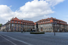 Jean-Paul statue and Postei building in Bayreuth, Germany, 2015 Royalty Free Stock Photography
