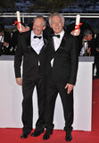 Jean Pierre, Jean-Pierre Dardenne, Luc Dardenne. Jean-Pierre & Luc Dardenne, winners of the Best Screenplay Award (The Silence of Lorna) at the 61st Annual Stock Photo
