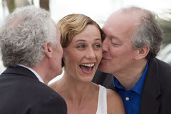 Jean-Pierre and Luc Dardenne, Cecile De France Royalty Free Stock Photo