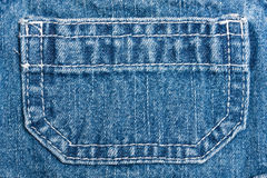 Jean pocket. Blue jean pocket in child's dress Royalty Free Stock Image