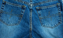 Jean pocket. On back of pants Royalty Free Stock Photography