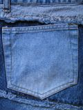 Jean pocket. On back of pants Royalty Free Stock Image