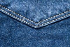 Jean pocket Seam. Close up Stock Photography