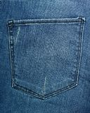 Jean pocket texture Royalty Free Stock Images
