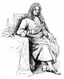 Jean Racine, celebrated French dramatist. Engraving of Jean Racine, the celebrated French dramatist. 1639-1699. From an original engraving in Jacob Abbott`s Stock Images