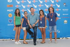 Jean Reno al Giffoni Film Festival 2012. Giffoni Valle Piana, Salerno, Italia - 21 Luglio, 2012 : Jean Reno al Giffoni Film Festival 2012 - il 21 Luglio, 2012 a Royalty Free Stock Images