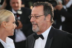 Jean Reno, Charlize Theron Royalty Free Stock Image