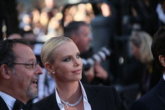 Jean Reno, Charlize Theron Royalty Free Stock Photography