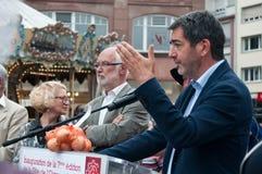 Jean Rottner mayor of Mulhouse Stock Images