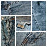 Jean's texture closeup background Stock Image