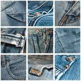 Jean's texture closeup background Stock Photos