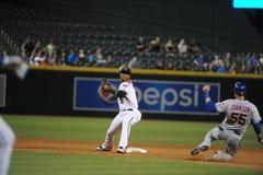 Jean Segura. Arizona Diamondbacks SS Jean Segura turns the double play Royalty Free Stock Image