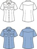 Jean shirt. Front and back royalty free illustration