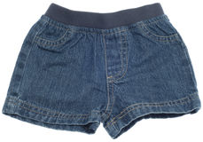 Jean Shorts. Isolated on White with a Clipping Path stock image