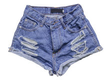 Jean shorts isolated Royalty Free Stock Images