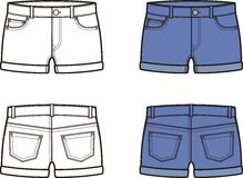 Jean shorts Stock Images