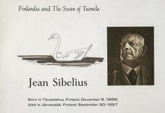 Finnish composer Jean Sibelius royalty free stock image