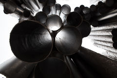 Jean Sibelius composer organ pipes monument in winter Helsinki, Finland Royalty Free Stock Photography