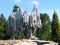 Jean Sibelius Monument in Helsinki, Finland Stock Photography