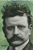 Jean Sibelius stående från finlandssvenska pengar Royaltyfria Foton