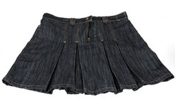 Jean skirt Royalty Free Stock Photos