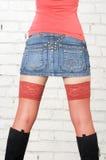 Jean spódnica Zdjęcia Stock