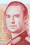 Jean storslagen hertig av den Luxembourg ståenden från pengar arkivbild