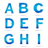 Jean style alphabet Stock Image