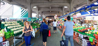 Jean-Talon Market. MONTREAL, CANADA - SEP 8: Jean-Talon Market interior on September 8, 2012 in Montreal, Canada. Montreal is the largest in Quebec, the second Royalty Free Stock Image