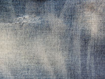 Jean texture. With ripping and strip color Stock Photography