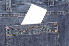 Jean Texture With Card Stock Photos