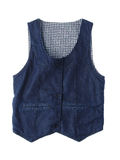 Jean Vest Isolated On White Stock Images