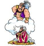Jean wizard wish greedy Aladdin cartoon illustration Stock Image