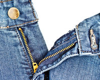 Jean zipper 3 Stock Photography
