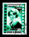 Jeanette Mc Donald, Amerykański Kinowy seria około 200, (1903-1965) zdjęcia stock