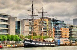 Jeanie Johnston, moored off Custom House Quay Royalty Free Stock Images